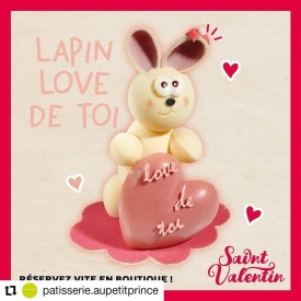 💕 Collection St Valentin !💕  ⏳ À se procurer en boutique ce week-end uniquement !  🍰 Un entremet gourmand pour 2 personnes et tout plein de surprises en chocolat, dont le montage lapin en chocolat blanc et la bonbonnière garnie 😋😍  #aupetitprince #auray #baud #carnac #belz #pluvigner #relaisdesserts #stvalentin #saintvalentin #love #amour #chocolat #gourmandise #greedy #yummy #miam #epv #collegeculinairedefrance #artisan #bretagne #morbihan