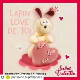 💕 Collection St Valentin !💕  ⏳ À se procurer en boutique ce week-end uniquement !  🍰 Un entremet gourmand pour 2 personnes et tout plein de surprises en chocolat, dont le montage lapin en chocolat blanc et la bonbonnière garnie 😋😍  #aupetitprince #auray #baud #carnac #belz #pluvigner #relaisdesserts #stvalentin #saintvalentin #love #amour #chocolat #gourmandise #greedy #yummy #miam #epv #collegeculinairedefrance #artisan #bretagne #morbihan