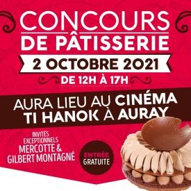 """⚠️ ATTENTION ! ⚠️ 📣 Information importante !   ➡️ Le Concours de Pâtisserie cette année ne se déroulera pas au Petit Théâtre mais au CINÉMA TI HANOK, Porte Océane III, 3 place de l'Europe, toujours à Auray ! 🙂  📌 Rendez-vous comme d'habitude de 12h à 18h30 pour suivre les 6 finalistes dans leur confection d'entremets et cakes sur le thème TOUT CHOCOLAT ! 🍫  ⭐️ Rencontrez @lacuisinedemercotte et @gilbertmontagneoff en tant que membres du Jury parmi d'autres professionnels de la gastronomie ! 👨🍳  📖 Venez vous procurer notre second tome de la collection """"MES ATELIERS DE PÂTISSERIE"""" avec toujours plus de recettes détaillées et gourmandes, et faites le dédicacer par tous les chefs ! 🖋  Hâte de vous retrouver samedi pour un Concours de folie !🤪  ©️ Photo : @hervelerestelestudiophoto  #aupetitprince #auray #baud #carnac #belz #locoal #pluvigner #relaisdesserts #pastry  #pastrychef #yummy #miam #gourmandise #greedy #morbihan #epv #collegeculinairedefrance #artisan #bretagne #foodporn #instafood #concoursdepatisserieamateur"""